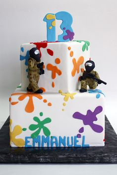 Paintball party cake by Coco Paloma Desserts, via Flickr
