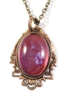 Vintage Dragon's Breath Jelly Opal Glass in Ornate by JujusCrafts, $31.60