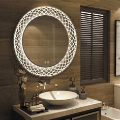 Bathroom Mirror with Lights Built In . Bathroom Mirror with Lights Built In . This Bathroom Mirror Light Was Like Doing Makeup with A Ring Mirror Cabinets, Backlit Bathroom Mirror, Modern Bathroom Mirrors, Led Mirror Bathroom, Round Mirror Bathroom, Bathroom Vanity Mirror, Mirror Decor, Bathroom Mirror Frame, Bathroom Mirror Design