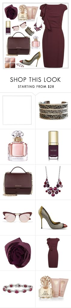 """Dinner Date"" by graceandstylenotes ❤ liked on Polyvore featuring Menu, Lois Hill, Guerlain, Dolce&Gabbana, Givenchy, Sorrelli, Le Specs, Sergio Rossi, Bajra and MaxMara"