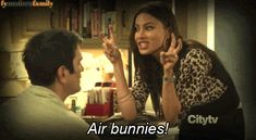 """She taught us a better term for """"air quotes."""" 