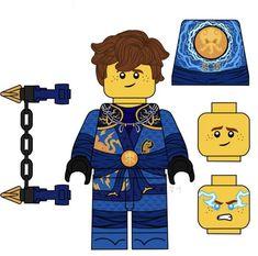 Jay Ninjago, Lego Ninjago Lloyd, Lego Ninjago Movie, Lego Custom Minifigures, Lego Minifigs, Mortal Kombat 9, Arte Ninja, Lego Figures, Texture Packs