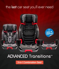 Evenflo ADVANCED Transitions™ 3-in-1 Combination Seat , one of the best car seats around!