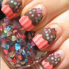 Cupcake nails!!mm