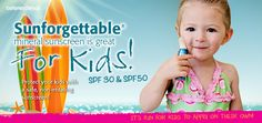 Sunforgettable is great for Kids! SPF 30 Available at GDAC. 352-333-3223