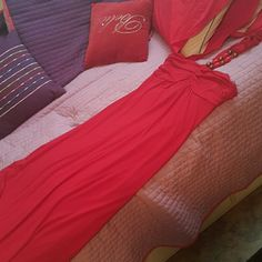 Long red maxi / sundress Like new Can fit a medium or large Very stretchy and comfy Can dress up or down Dresses