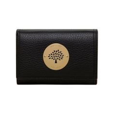 The Perfect Gift from Mulberry - Daria French Purse in Black Spongy Pebbled
