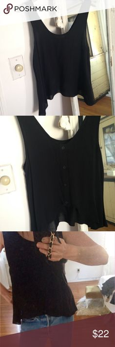 Hi lo back button top❤️ Worn once. Like new. Fab sz tag out. Sz small lightweight cotton Tops Tank Tops