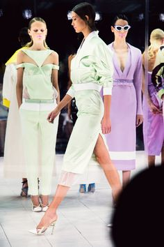 Prabal Gurung Spring / Summer 2014 collection at New york fashion week. Love the sports luxe feel with a touch of femininity, by the use of pastel colours.