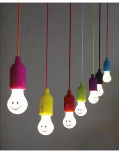 スマイルランプ ブルー 電球型/LEDランプ/LED/ランプ/ライト/電池式ライト【SPICE(スパイス)】