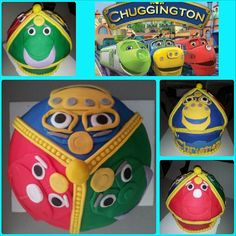 Chuggington Colossal Cupcake in Vanilla Bean for a 2yr old Birthday Party