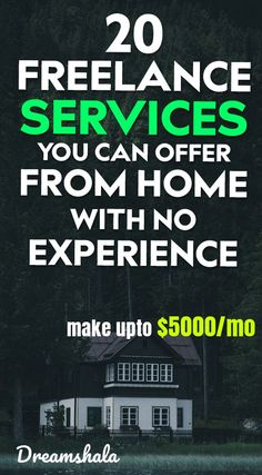 20 freelance services you can offer from home with no experience. Make Money Fast, Make Money From Home, Make Money Online, Freelance Writing Jobs, Freelance Online, Home Based Business, Business Ideas, Online Business, Financial Tips