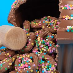 Break the party open with Dylan's chocolate BashCake! This cupcake shaped piñata pours out chocolate covered pretzels when the hollow chocolate is smashed.