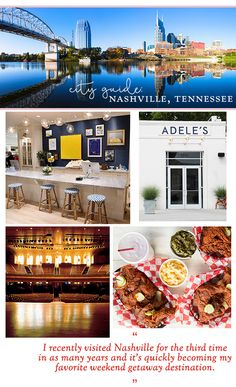 I recently visited Nashville for the third time in as many years and it's quickly becoming my favorite weekend getaway destination. It's a quick 45 minute flight from Chicago and in addition to an …