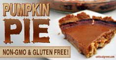 It took more than a few times to get this right! After several fails, Melissa says this pumpkin pie recipe came out just right! Thumbs up to this no grain, gluten free, non-GMO pumpkin pie, a great treat to bring to Thanksgiving (or any other event for that matter)!