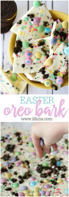 Easter Snacks | Treats | Desserts | Oreos | Bark | Party Food | Kids | M&Ms