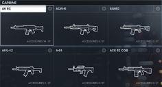 Battlefield 4 Carbines