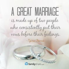 A great marriage is made up of two people who consistently put their vows before their feelings. Before Marriage, Happy Marriage, Marriage Advice, Love And Marriage, The Notebook Quotes, She Quotes, Love Me Forever, Christian Marriage, Life Thoughts