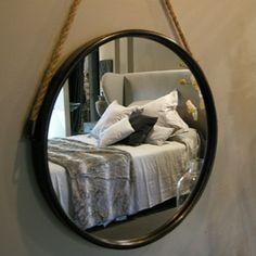Pouf rond en chanvre naturel fait main nkuku esprit - Miroir rond avec corde ...