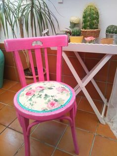 Silla restaurada, Furniture, Home Decor, Perching Stool, Bench Seat, Chair, Bedrooms, Home, Ideas, Refurbished Chairs