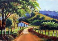 Resultado de imagen para como dibujar un paisaje rural facil