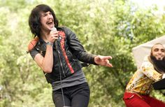 Eric Nally of Foxy Shazam. Is that a basketball as a shoulder pad?