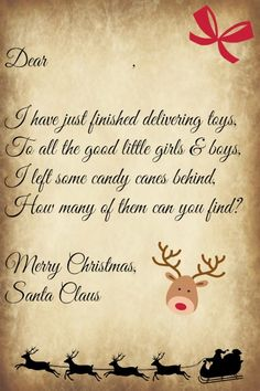 Letter from Santa for First Christmas | Tugs at the heart strings ...