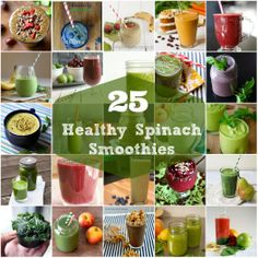 25 Healthy Green Smoothie Recipes | @Christine Ballisty McCarthy