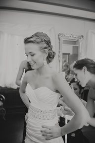 i want this picture taken of me -- so sweet, also love the braid in her hair!