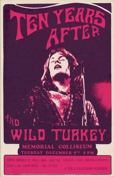 1972 Ten Years After played the Memorial Coliseum in Portland