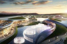 Los Millennials, Dubai, Shopping Center, Building Design, Playground, Outdoor Decor, Centre, Commercial, Internet