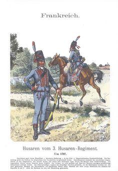 Band XVI #42.- Frankreich. 3. Hus. Rgt. um 1797.
