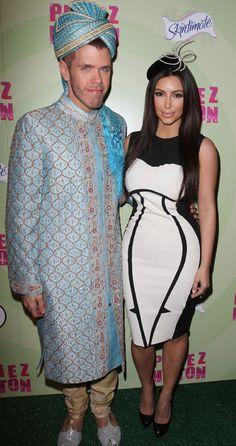 Perez Hilton parties with Kim Kardashian at Mad Hatter Tea Party