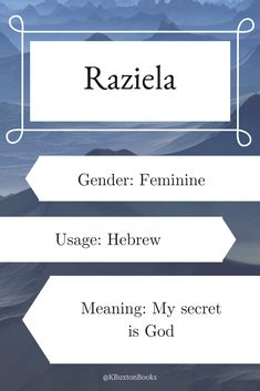 names girl unique Raziela - Mädchenname The Top Bab . Rare Baby Names, New Baby Names, Baby Name List, Unique Baby Names, Baby Girl Names, Boy Names, Female Character Names, Female Names, Children Book Quotes
