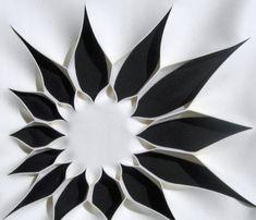 Wanddeko Akustik-Wand Design schwarz weiß