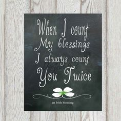 Irish blessing print St Patrick's day printable by DorindaArt, $5.00