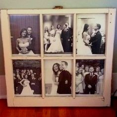 Old window used as frame