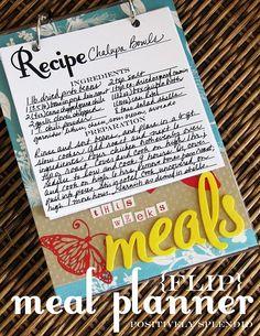 Flippable menu planner
