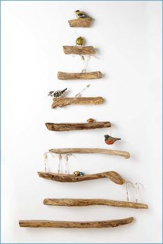 Driftwood Shelf Tree (note to self - try with bobbers, hooks & fish?)