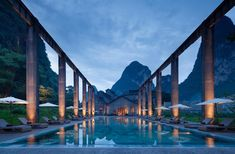 Interior Design of Alila Yangshuo, China by Horizontal Design - 谷德设计网 China Architecture, Architecture Design, Kerry Hill Architects, Travel Around The World, Around The Worlds, Building Renovation, Guilin, New View