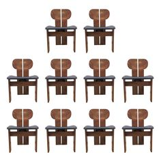 Set of 10 'Artona' Chairs by Afra and Tobia Scarpa