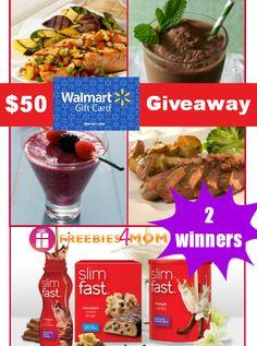 Could you use a $50 Walmart gift card? Try to win one in my new Slimfast #Giveaway - I get to spoil TWO people with it! (ends Jan. 13)  ENTER HERE ---> http://freebies4mom.com/slim/