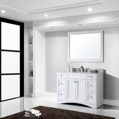 Photo Gallery Website  Overstock Petite Inch Wood White Bathroom Vanity Give your bathroom a quick update with this stylish white vanity With one door one d u