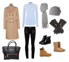 A fashion look from November 2015 featuring blue shirt, woolen coat and Paige Denim. Browse and shop related looks. Boutique Moschino, Paige Denim, Ugg Australia, Victoria Beckham, Timberland, Uggs, Casual Outfits, Polo Ralph Lauren, Fashion Looks
