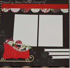 Stampin' Up!  Scrapbook Layout  Monica Gale