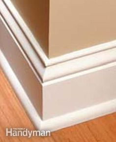 Perfect Trim on Doors, Windows and Base Moldings Tricks for getting tight-fitting joints on door and window casings and on base moldings. Tricks for getting tight-fitting joints on door and window casings and on base moldings. Base Moulding, Moldings And Trim, Molding Ideas, Floor Molding, Shoe Molding, Wall Molding, Crown Moldings, Estilo Craftsman, Craftsman Style
