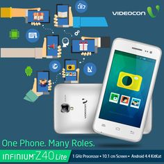Presenting to you #Videocon Infinium Z40Lite, One Phone, Many Roles! Know more about it here - http://www.videoconmobiles.com/z40lite