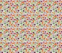 ratatouille fabric by suestrobel on Spoonflower  www.spoonflower.com/profiles/suestrobel