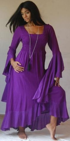 PURPLE DRESS RUFFLED WRAP HIPPY MAXI – FITS – « Dress Adds Everyday