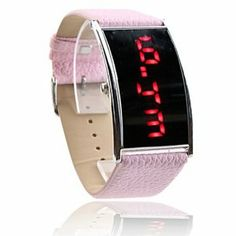 Tanboo Pink PU Leather Band Elagant Women Silvery Frame Red LED Wrist Watch by Tanboo Watchs. $6.99. Sports Fan Watch. Gender:Women'sMovement:LEDDisplay:DigitalStyle:Wrist WatchesType:Fashionable WatchesBand Material:PUBand Color:PinkCase Diameter Approx (cm):4.9 x 2.8Case Thickness Approx (cm):1Band Length Approx (cm):24.5